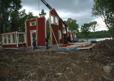 Pettersvik under uppbyggnad